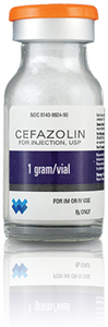 Cefazolin Lyophilized Powder 1gm 10cc By West-Ward Pharmaceutical Corp