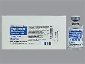Neostigmine Inj 1Mg/ml 1X10ml By West-Ward Pharmaceutical Corp