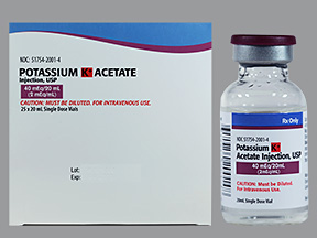 RX ITEM-Potassium Acetate 40 Meq Vial 25X20Ml By Exela Pharma