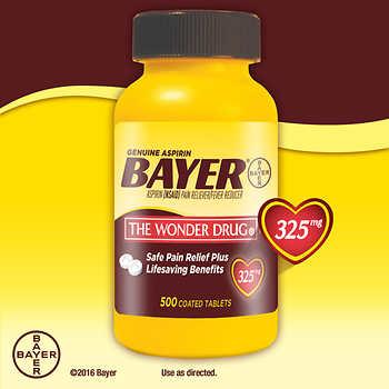 '.Bayer Aspirin 325 Mg Tab 500 T.'