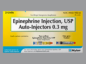 RX ITEM-Epinephrine 0.3Mg Epi-Pen Epipen Syringes Pack Of 2 By Dey Pharma
