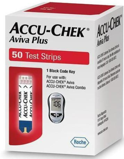 Accu-Chek Aviva Plus Test Strip White 50 Count By Roche Diabetes Care