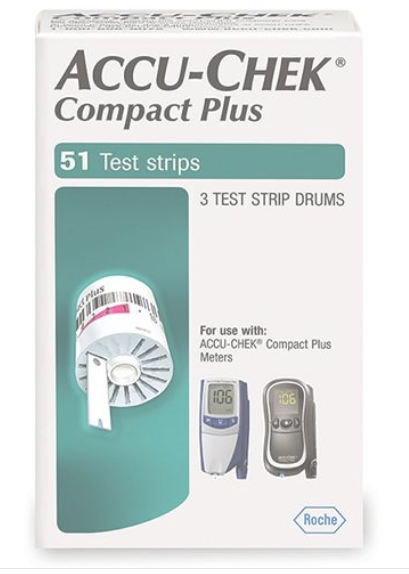 ACCU-CHEK COMPACT PLUS DRUMS 51CT WHITE Roche Diabetes Care
