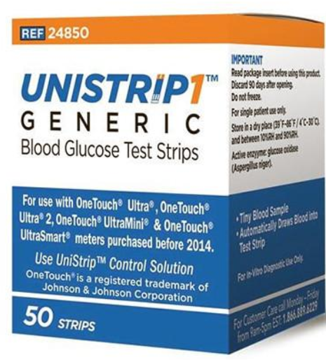 Unistrip Test Strips 50Ct