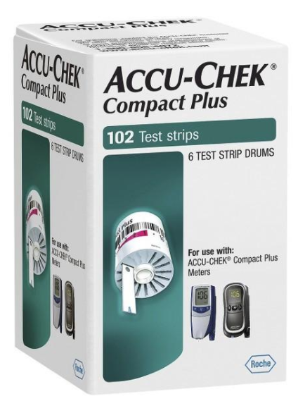 Accu-Chek Compact Plus Drums 102 Count White Roche Diabetes Care