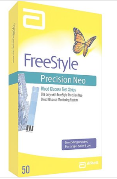 FREESTYLE PRECISION NEO TEST STRIPS 50 CT Yellow by Abbott