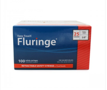 Easy Touch Fluringe Syringe with Needle 25G 5/8