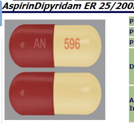 RX ITEM-Dipyridamole-Aspirin Generic Aggrenox 25Mg/200Mg Cap 60 By Amneal Pharma