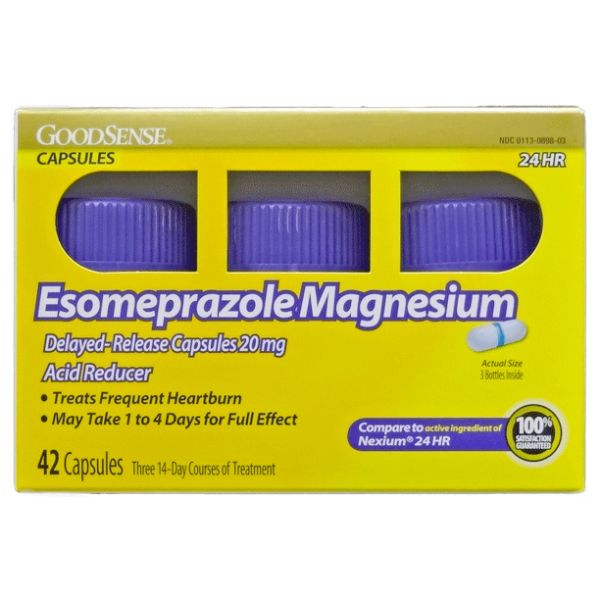 Esomeprazole Magnesium Gen Nexium 24Hr OTC 20mg Capsule 42 Count By Perrigo