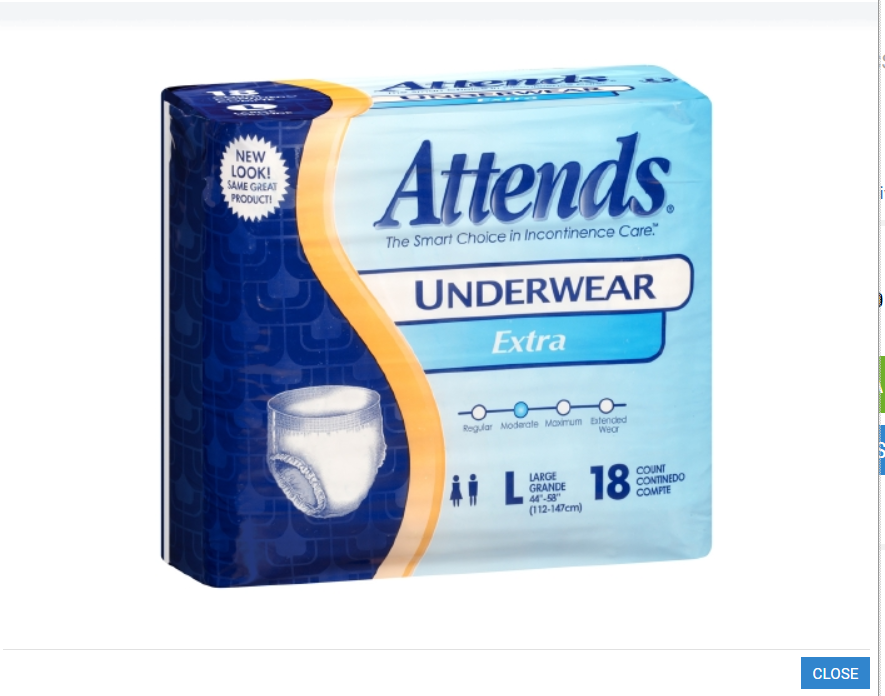 Adult Absorbent Underwear Attends Pull On Large Disposable Moderate Absorbency