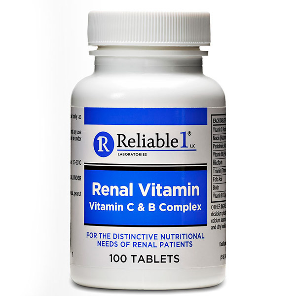 Renal Vitamins Tablet 100Ct by Reliable 1 Advance Pharma