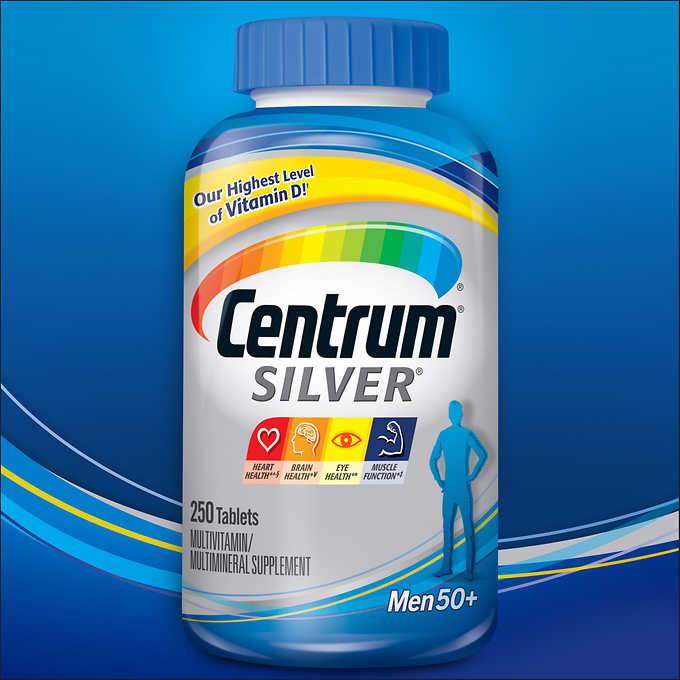 Centrum Silver Men 50+, 250 Tablets