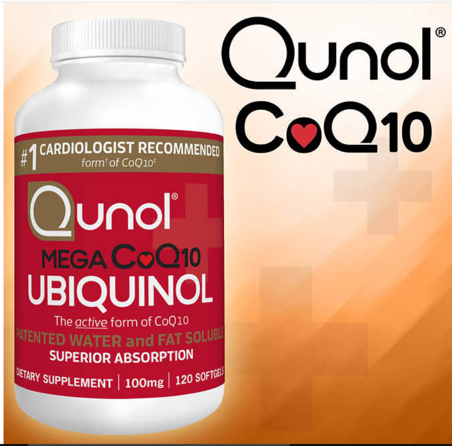Qunol Mega CoQ10 100 mg., 120 Softgels