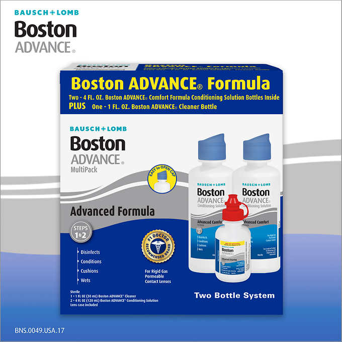 Boston ADVANCE Conditioning Solution MultiPack, 9 Ounces by Bausch & Lomb