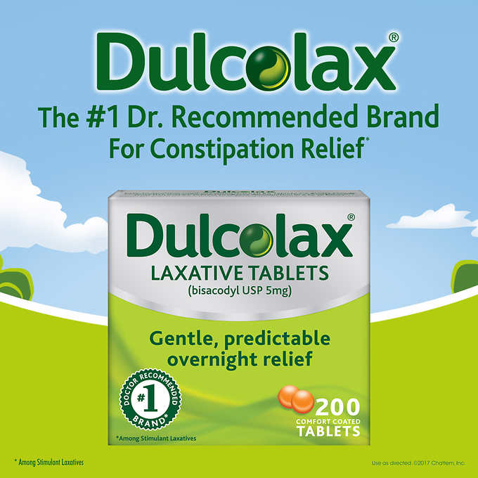 Dulcolax Laxative Tablets - 200 Count