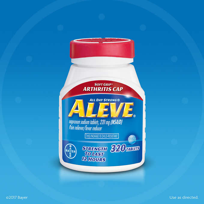 Aleve Soft Grip Arthritis Pain Reliever 320 Tablets