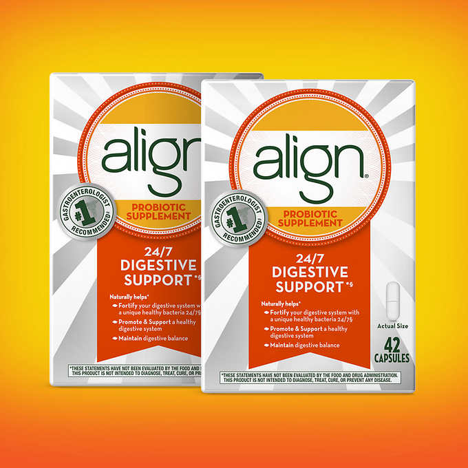Align Daily Probiotic Supplement, 84 Capsules