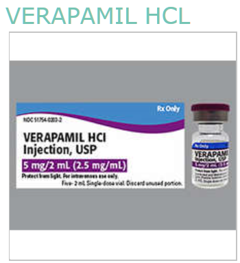 RX ITEM-Verapamil Hcl 5 Mg Single Dose Vial  5X2Ml By Exela Pharma