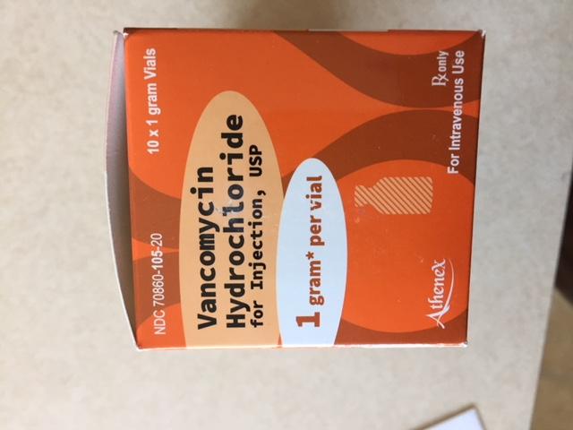 RX ITEM-Vancomycin 1 Gm 10 By Athenex Pharma