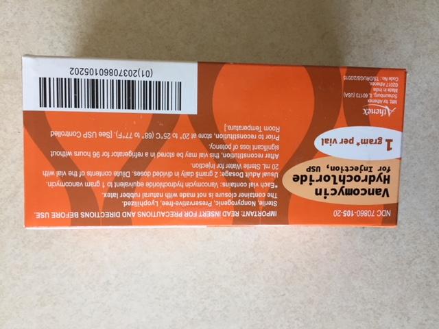 '.Vancomycin 1 Gm 10 by ATHENEX .'