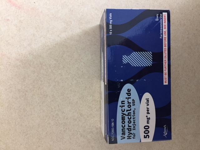 RX ITEM-Vancomycin 500Mg 10 Vials By Athenex Pharma