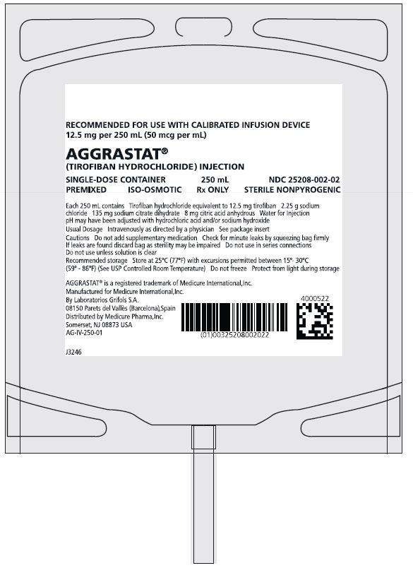 Rx Item-Aggrastat 5mg 100ml Bag 100ml By Medicure Pharma