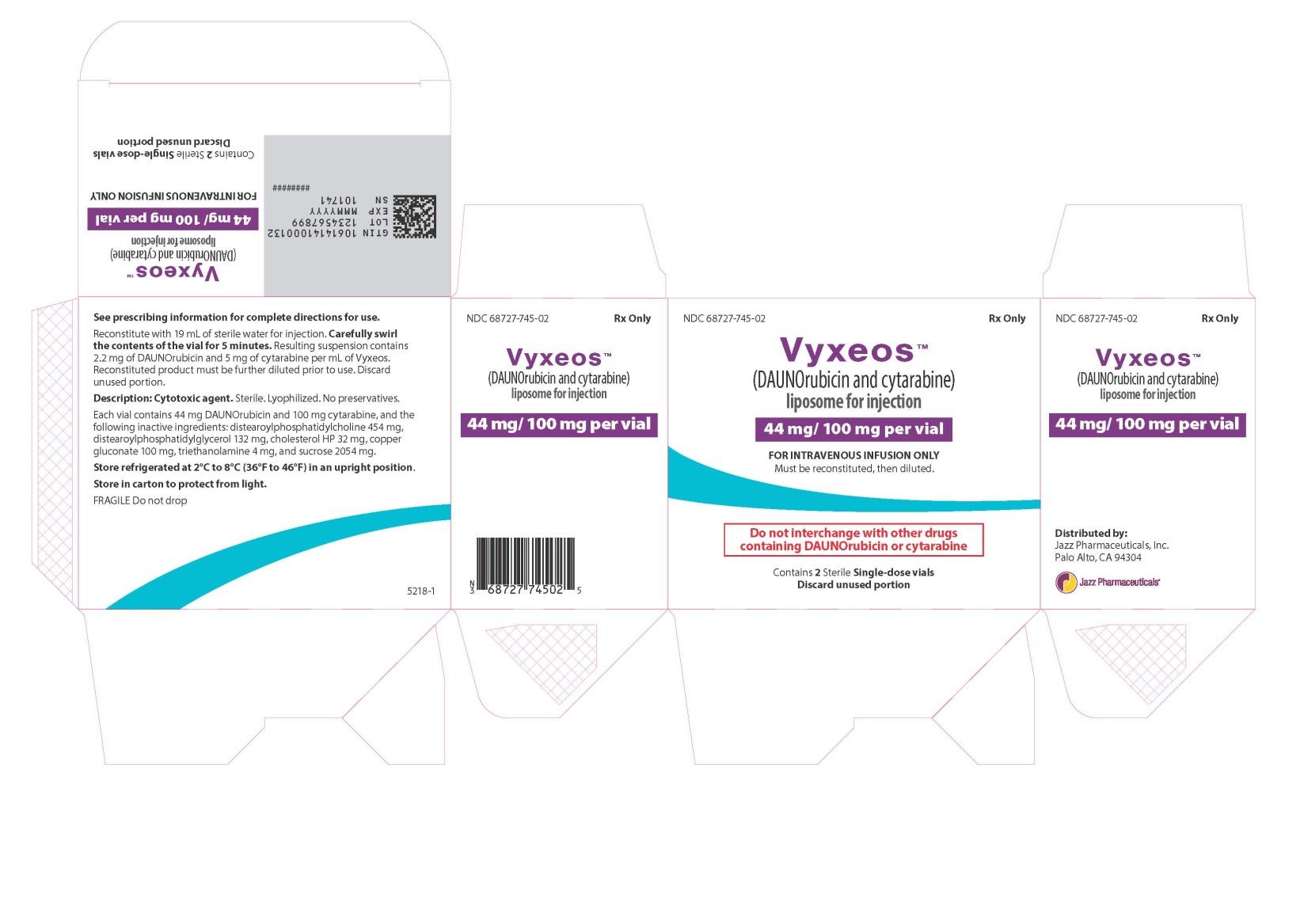 RX ITEM-Vyxeos- (Daunorubicin And Cytarabine) Liposome Injection, Powder, By Jaz