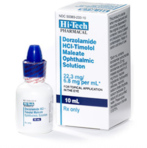 Dorzolamide Hcl With Timolol Ophthalmic Solution By Akorn