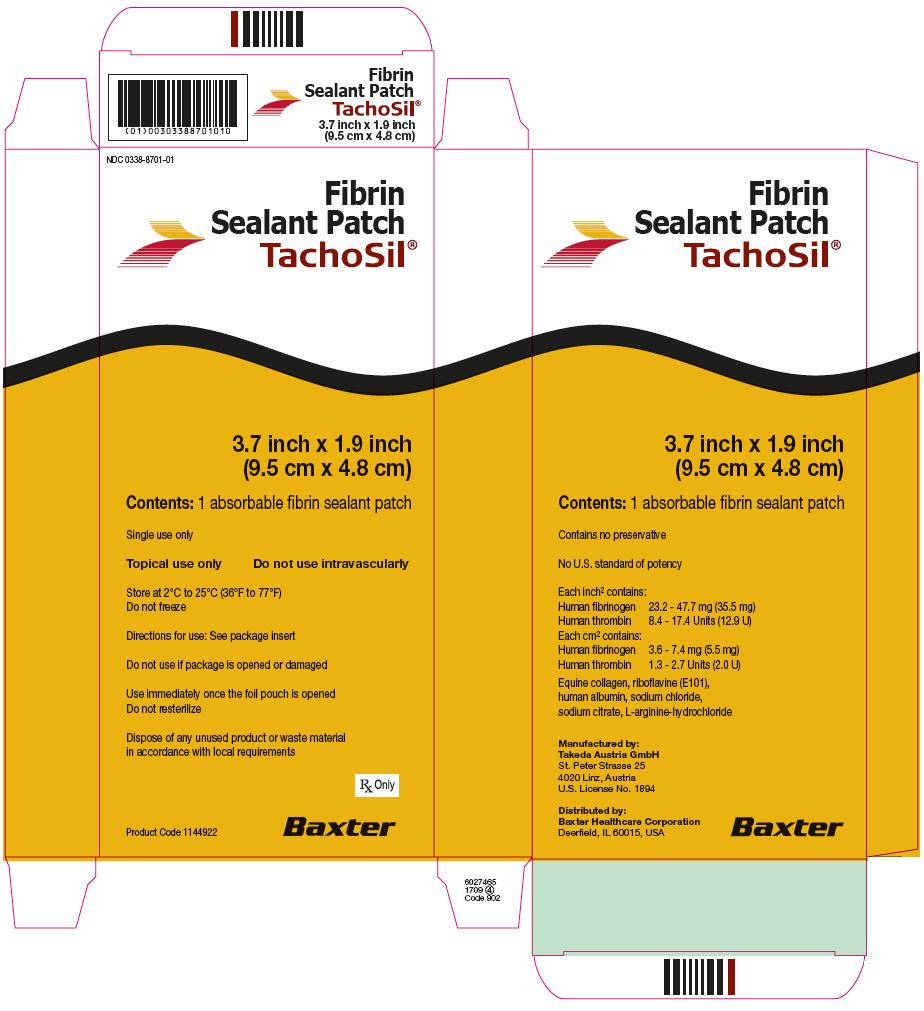 RX ITEM-Tachosil Fibrin Fibrinogen-Thrombin Adhesive Patch 1X1 Ea By Baxter Phar