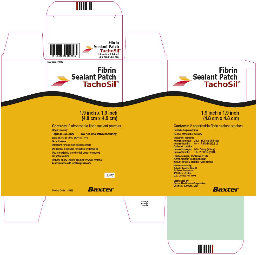 RX ITEM-Tachosil Fibrin Fibrinogen-Thrombin Adhesive Patches 2 Ea By Baxter Phar