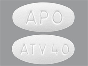 Atorvastatin Tabs 40mg By Apotex
