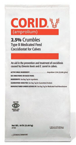 Corid Crumbles 2.5% 50Lbs - Local Delivery Only By Huvepharma