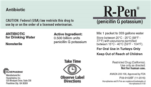 R Pen (Penicillin G Potassium) .5Bu By Huvepharma