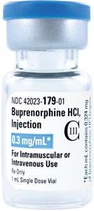 Buprenorphine (C-3) 0.3Mg/1ml By Jhp Pharma