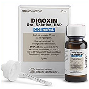 Digoxin Oral Solution - 0.05Mg/ml Lime Flavor By Roxane Laboratories