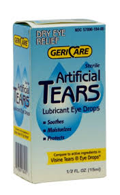 Artificial Tears Drops 0.5 oz Geri-Care Item No.: 4782490 OTC782490 NDC No.: 57896-0181-05 57896-181-05 57896018105 5789618105 UPC No.: 3-57896-18405-6 357896-184056 357896184056 Item Description: Dry