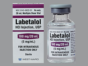 LABETALOL HCL 100MG-20ML MDV 20ML PPX BY WESTWARD (HIKMA)