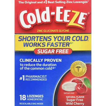 COLD-EEZE BOX S/F CHERRY LOZ 18CT By EMERSON HEALTHCARE LLC