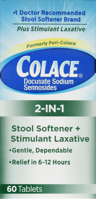 '.COLACE 2-IN-1 TABLETS 60CT .'