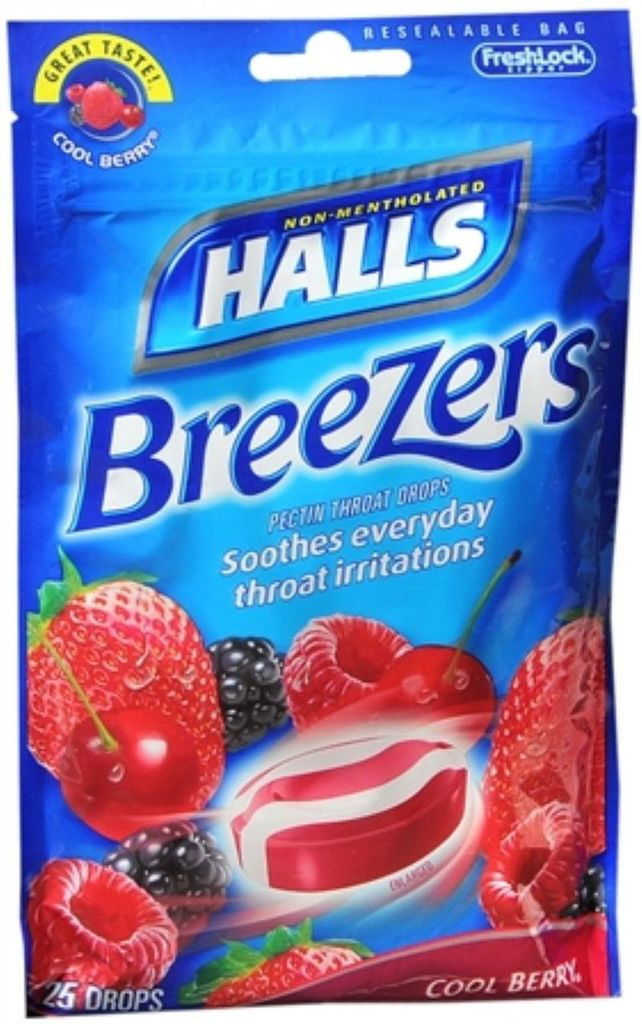 HALLS BREEZERS BAG COOL BERRY 25CT By Mondelez Global Llc
