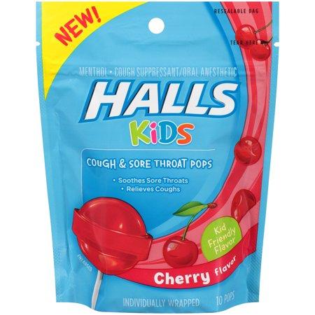 HALLS KIDS POPS BAG CHERRY 10PC By Mondelez Global