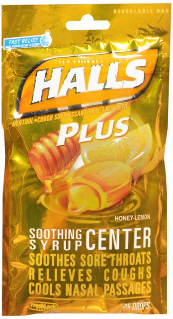 Halls Plus Bag Honey Lemon 25 Count By Mondelez Global