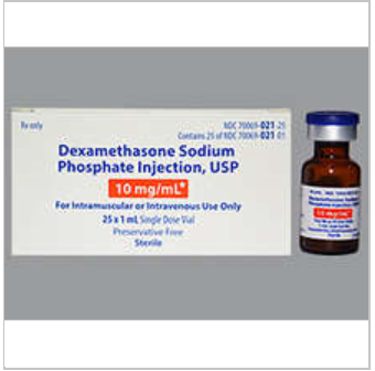 RX ITEM-Dexamethasone 10 Mg Single Dose Vial  25X1 Ml Preservative Free By Somer