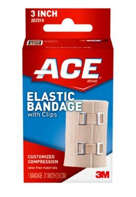 Free Shipping-3M ACE 4 Elastic Bandage With Clip, 72/CsNo.M-3M207313 Supplie