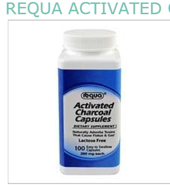 Requa Activated Charcoal Supplement 260mg Capsules 100 ct