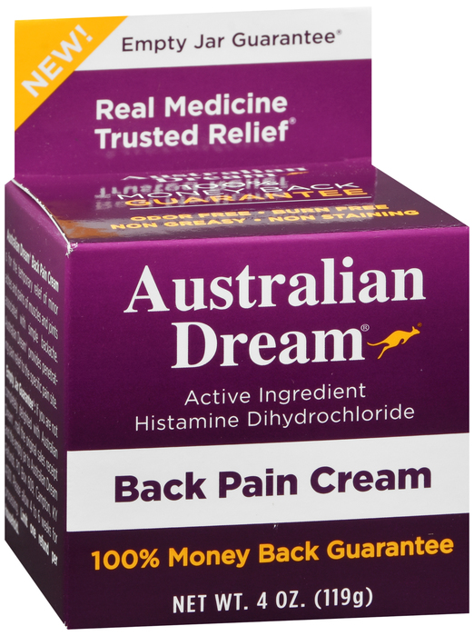 AUSTRALIAN DREAM BACK PAIN CREAM 4OZ