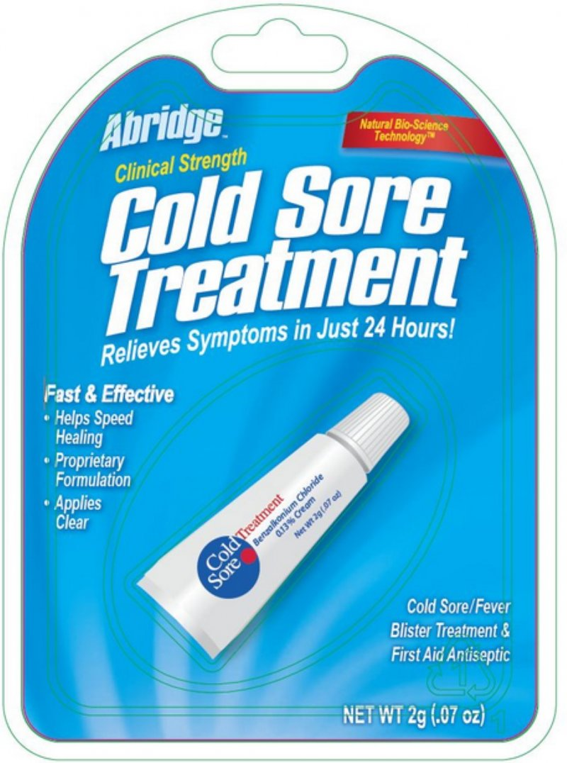 ABRIDGE COLD SORE CREAM 0.13% 2 G  Case  NDC NO. 71031-0737-49 7103173749 71031073749 71031-737-49 UPC No: 071031737494  071031-737494   0-71031-73749-4    Inner Pack UPC: Case UPC: 071031737494 NDC N