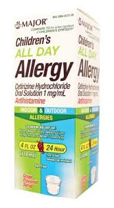 LL DAY ALLERGY CHILD SYRUP CETIRIZINE BY MAJOR PHARMA 4  oz