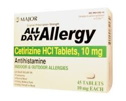 All Day Allergy 10mg Tablet 45 Count Major Pharma Cetirizine