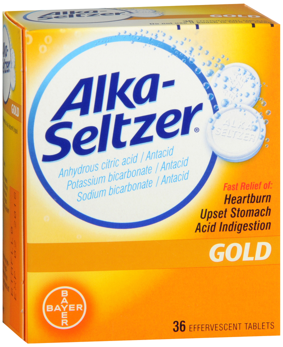 Alka Seltzer Tablet Gold 36 Count By Bayer